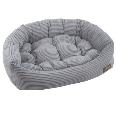 Corduroy Napper Bed Bolster Color: Dove Grey, Size: Medium - 27 L x 35 W