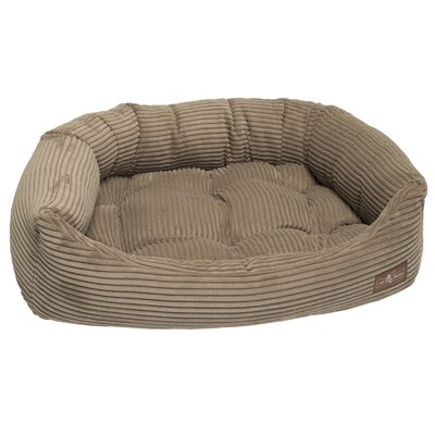Corduroy Napper Bed Bolster Size: Large - 32 L x 40 W, Color: Honey
