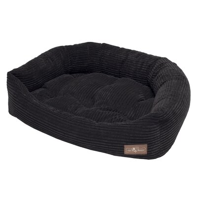 Corduroy Napper Bed Bolster Color: Midnight, Size: Medium - 27 L x 35 W