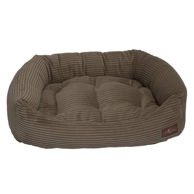 Corduroy Napper Bed Bolster Color: Olive, Size: Small - 21 L x 24 W