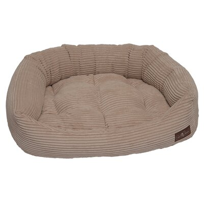 Corduroy Napper Bed Bolster Color: Sand, Size: Extra Large - 42 L x 50 W