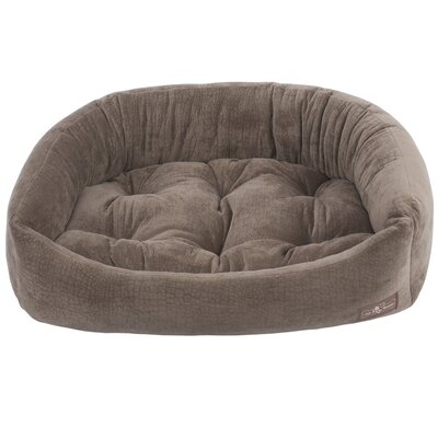 Ripple Velour Napper Bolster Size: Large (32 W x 40 D x 9.5 H), Color: Java