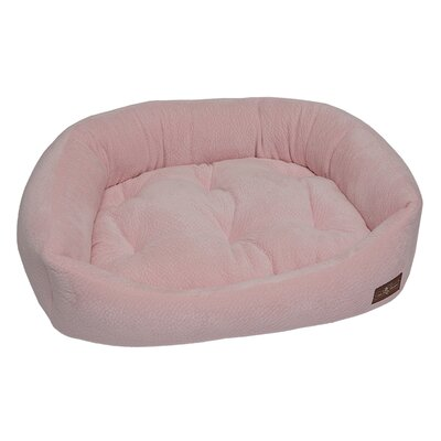 Ripple Velour Napper Bolster Size: Extra Large (42 W x 50 D x 11 H), Color: Pink