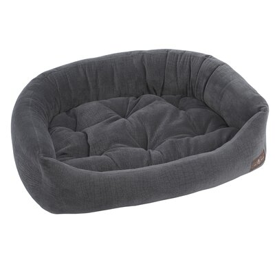 Ripple Velour Napper Bolster Size: Medium (27 W x 35 D x 8.5 H), Color: Storm