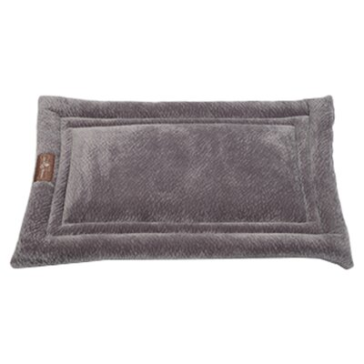 Ripple Velour Cozy Mat Color: Silver, Size: Large - 36 L x 23 W