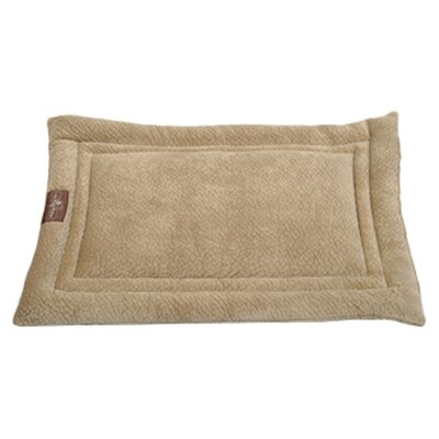 Ripple Velour Cozy Mat Color: Camel, Size: Extra Large - 42 L x 28 W