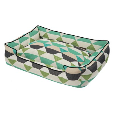 Origami Bolster Pet Bed Size: Small  (24 W x 18 D), Color: Pear