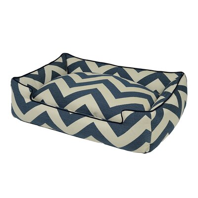 Spellbound Premium Cotton Blend Lounge Bolster Dog Bed Size: Small - 24 L x 18 W, Color: Blue