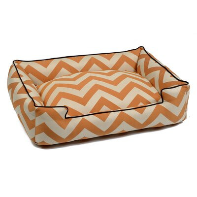 Spellbound Rectangle Pet Bed Size: Medium (36 W x 28 D), Color: Orange