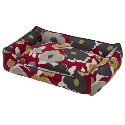 Everyday Cotton Lounge Pet Bed Size: Medium (32 L x 27 W), Color: Dahlia