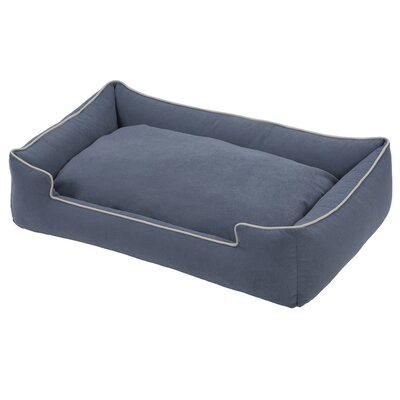 Crypton Lounge Bolster Dog Bed Size: Large - 39 L x 32 W, Color: Blueberry