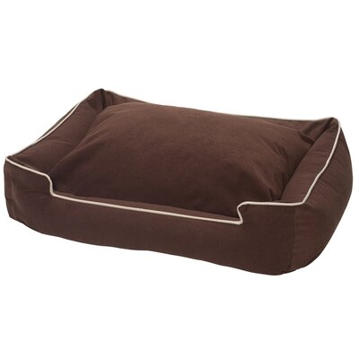 Crypton Lounge Bolster Dog Bed Size: Small - 24 L x 18 W, Color: Mocha