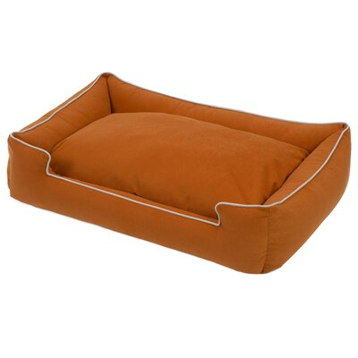 Crypton Lounge Bolster Dog Bed Size: Small - 24 L x 18 W, Color: Persimmon