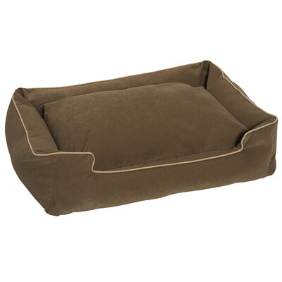 Crypton Lounge Bolster Dog Bed Color: Sage, Size: Large - 39 L x 32 W