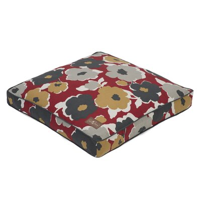 Everyday Cotton Square Pillow Dog Bed Size: Small - 25 L x 25 W