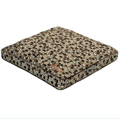 Flocked Pillow Dog Bed Size: Extra Small (25 L x 25 W)