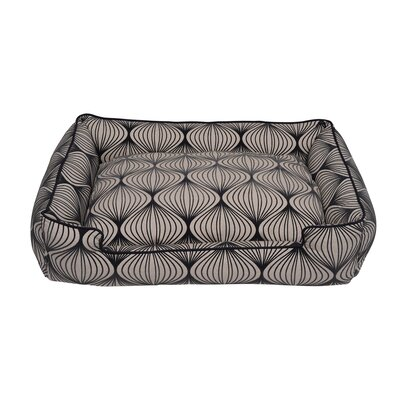 Flocked Lantern Rectangle Pillow Dog Bed Size: Medium - 36 L x 28 W