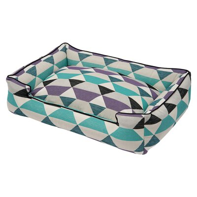 Origami Bolster Pet Bed Size: Large (39 W x 32 D), Color: Plum