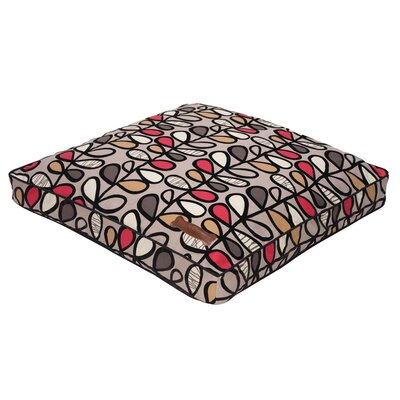 Vines Flocked Rectangular Pillow Bed Size: Medium - 28 L x 36 W