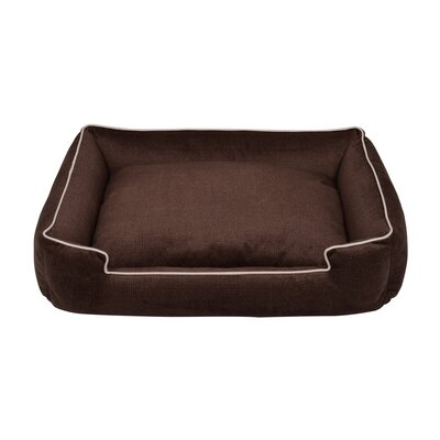 Napper Dog Bed Size: Medium Large (39 L x 32 W), Color: Sterling Plush Metal