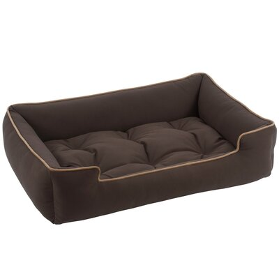 Sleeper Bolster Dog Bed Color: Chocolate, Size: Medium (32 L x 27 W)