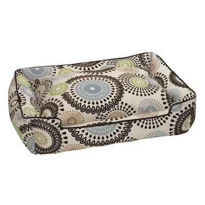 Flocked Lounge Bolster Dog Bed Size: Medium / Large (39 L x 32 W)