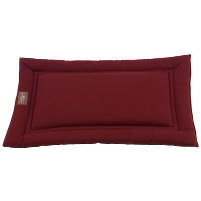 Sleeper Dog Mat Size: Medium (30 L x 19 W), Color: Berry