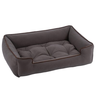 Sleeper Bolster Dog Bed Size: Small (24 L x 18 W), Color: Pewter
