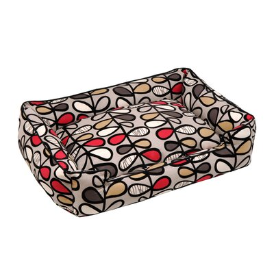 Vines Lounge Bolster Pet Bed Size: Medium (32 W x 27 D)