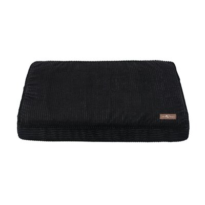 Corduroy Rectangular Pillow Bed Color: Midnight, Size: Large (42 L x 36 W)