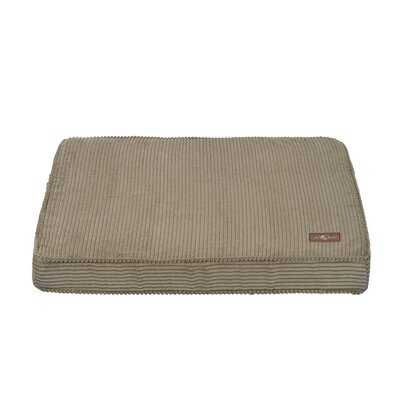 Corduroy Rectangular Pillow Bed Color: Olive, Size: Large (42 L x 36 W)