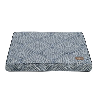 Gatsby Premium Cotton Blend Rectangular Pet Bed Pillow Size: Medium (36 L x 28 W), Color: Blue