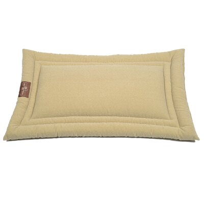 Tweed Microfiber Cozy Mat Color: Cream, Size: Large (36 L x 23 W)