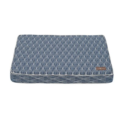 Pearl Premium Cotton Blend Rectangular Pillow Bed Color: Navy, Size: Large (42 L x 36 W)