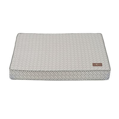 Hera Everyday Cotton Rectangular Pillow Bed Size: Large (42 L x 36 W), Color: Grey