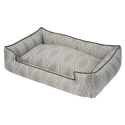 Helix Bolster Dog Bed Size: Small (24 L x 18 W), Color: Clould