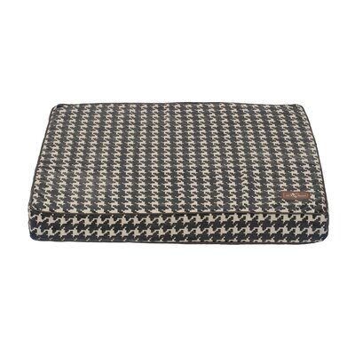 Graphite Flocked Rectangular Pillow Bed Size: Large (42 L x 36 W)
