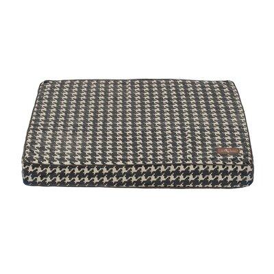 Graphite Flocked Rectangular Pillow Bed Size: Medium (36 L x 28 W)