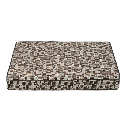 Flocked Dog Bed Size: Medium