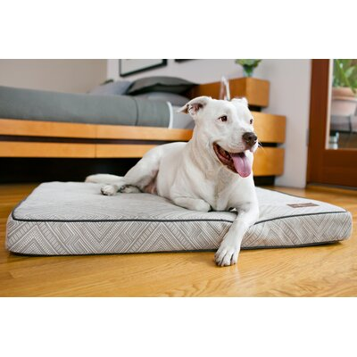 Gatsby Premium Cotton Blend Rectangular Pet Bed Pillow Size: Large (42 L x 36 W), Color: Grey