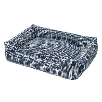 Pearl Navy Cotton Blend Lounge Bed Size: Large (39 L x 32 W)