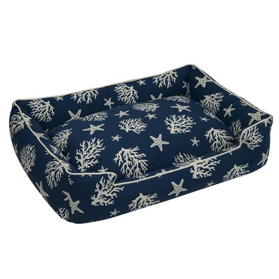 Cotton Blend Lounge Bed Bolster Size: Large, Color: Navy Blue