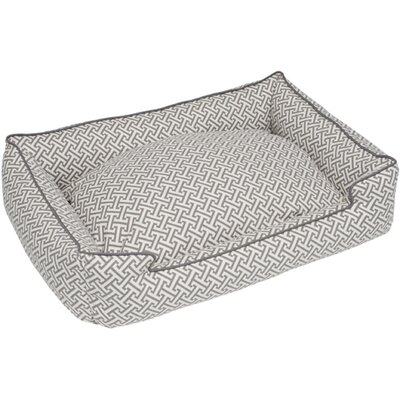 Hera Everyday Cotton Lounge Bolster Dog Bed Size: Medium - 32 L x 27 W, Color: Gray