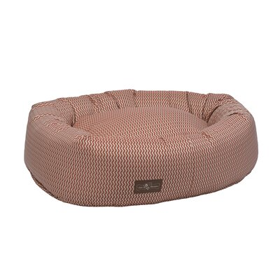 Mod Premium Cotton Donut Bed Color: Mod Rust (Red), Size: Medium