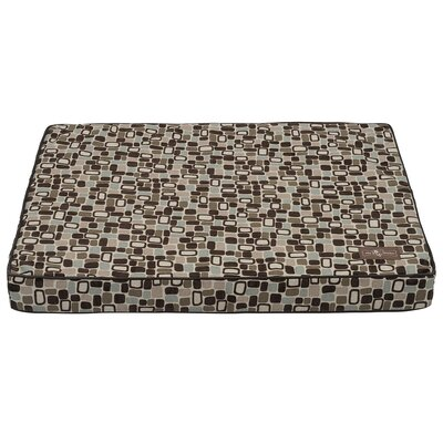 Flocked Dog Bed Size: Large