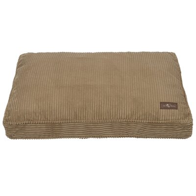Corduroy Dog Bed Color: Tan, Size: Large