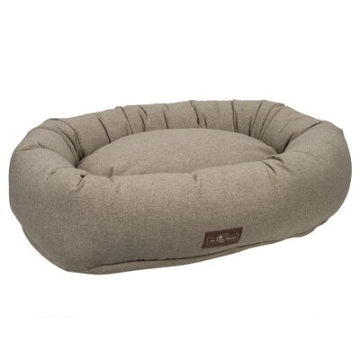 Standard Wool Blend Donut Bed Size: Medium, Color: Sesame (Beige)