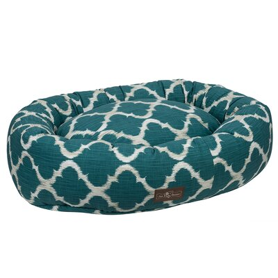 Monaco Everyday Cotton Donut Bed Size: Medium, Color: Monaco Oasis (Teal)