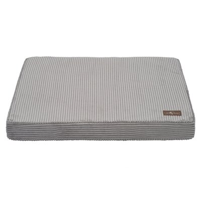 Corduroy Dog Bed Size: Large, Color: Grey