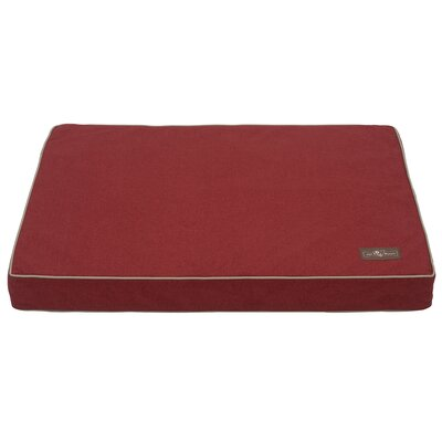 Wool Blend Dog Bed Size: Medium, Color: Red